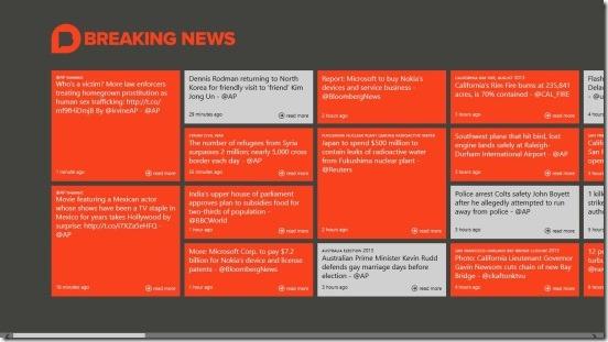 Breaking News - Bulletin Board Screen