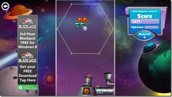 Bubble Star - hexagonal shot gameplay