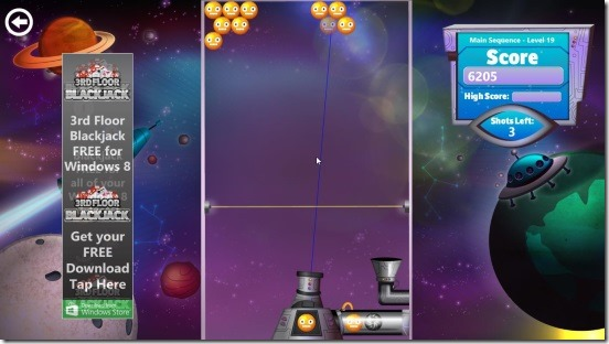 Bubble Star - straight shot gameplay