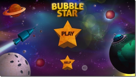 Bubble Star - welcome screen
