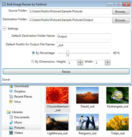 Bulk Image Resizer working
