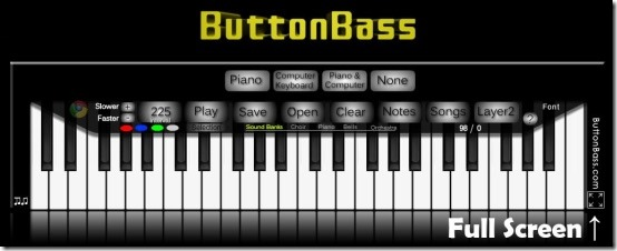 ButtonBass Player Piano