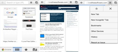 Chrome Browser - Alternative for Safari Web browser for iPhone