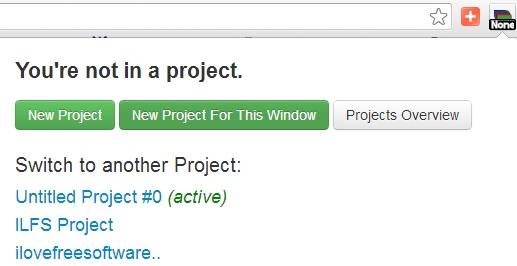 Contextinator- create a project