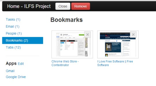 Contextinator- homepage of project