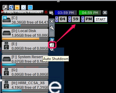 DriveInfo- auto shutdown PC option