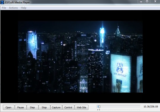ESFSoft Media Player- interface