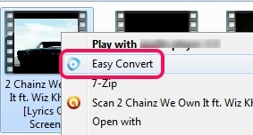 Easy Convert- right-click option