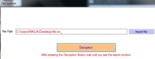 Encryption Studio 2014- decrypt text file