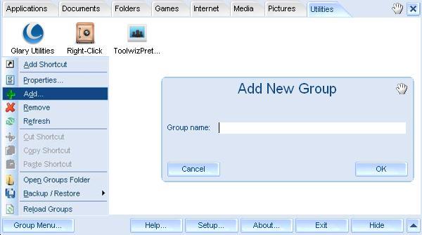 FSL Launcher - Adding New Group Tab