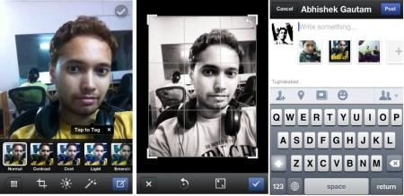 Facebook Camera- add photos