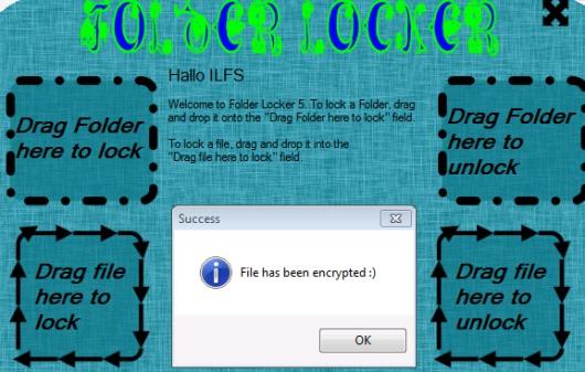 Folder Locker- lock a file or folder