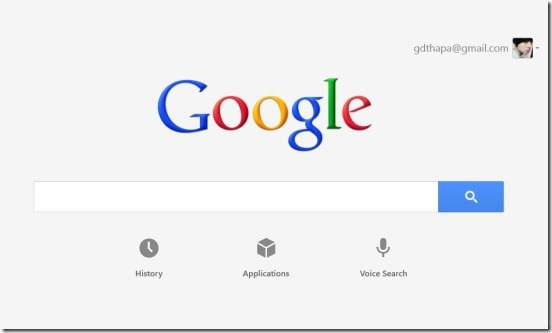 Google Search - main page