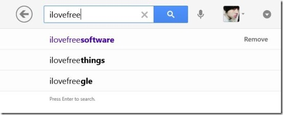 Google Search - search suggestion