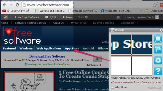 Grabilla- screen capture software