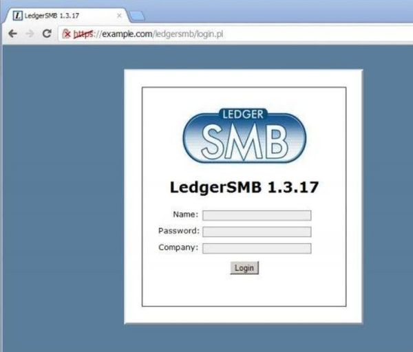LedgerSMB default window