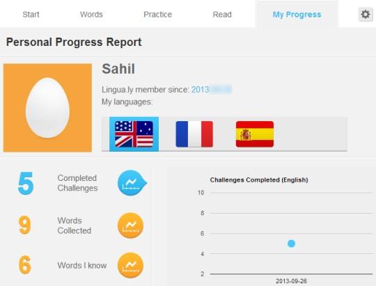 Lingua.ly- progress report