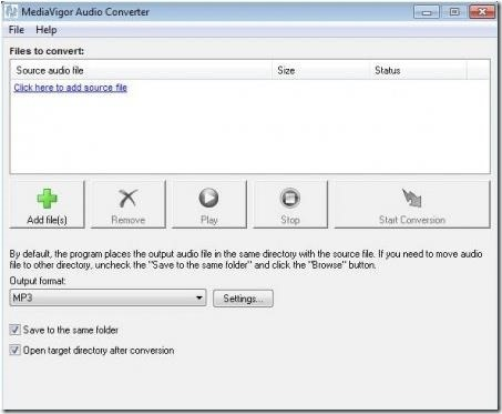 MediaVigor Audio Converter