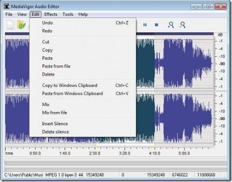 MediaVigor Audio Editor