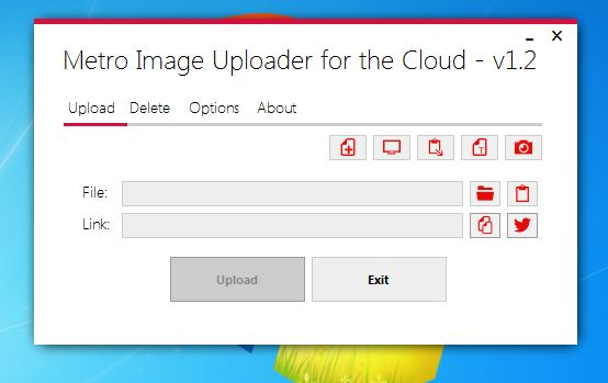 Metro Image Uploader default window