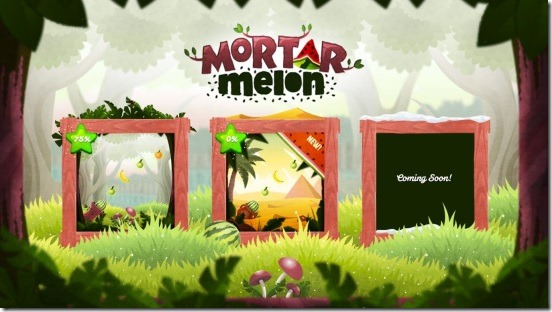 Mortar Melon - main screen