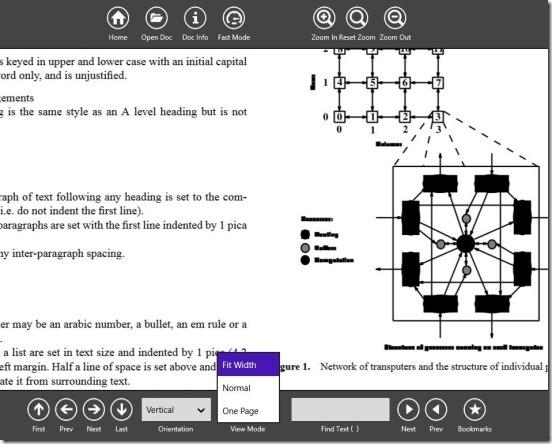 PDF Reader 2.0 - changing view mode