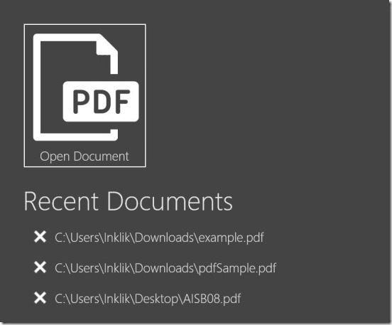 PDF Reader 2.0 - home screen