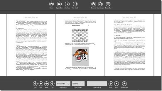 PDF Reader 2.0 - horizontal orientation