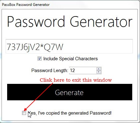 PassBox - Password Generator
