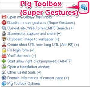 Pig Toolbox (Super Gestures)