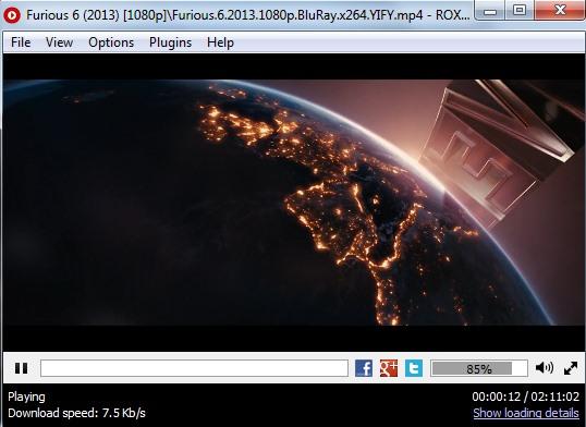 ROX Player- interface