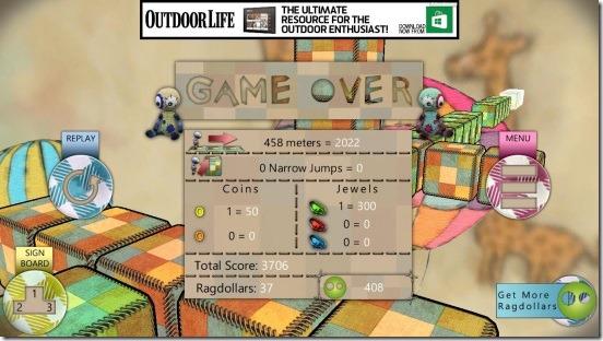 Ragdoll Run - game results