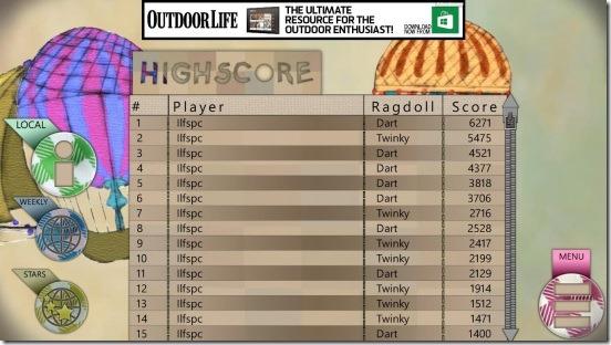 Ragdoll Run - leaderboard