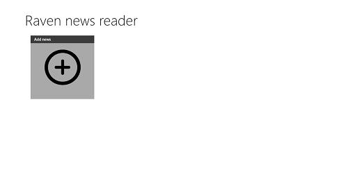 Raven News Reader add news