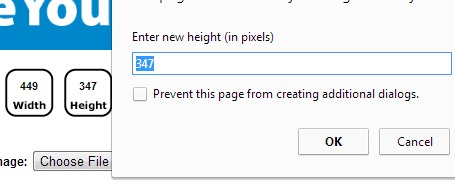 Resize Your Image- enter new height or width