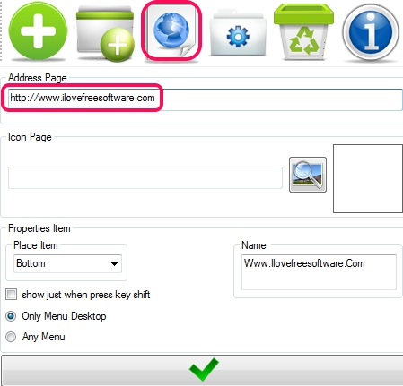 Right click Manager- Adder Page website button