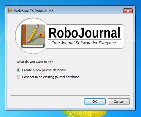 RoboJournal login window