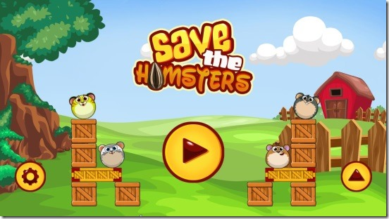 Save The Hamsters - main screen