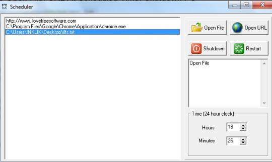 Scheduler software- interface