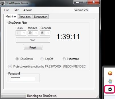 ShutDown Timer- interface