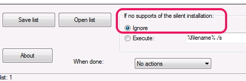 Silent Install Helper- add filter for unsupported applications