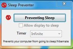 Sleep Preventer-Shutdown Manager- Preventing Mode