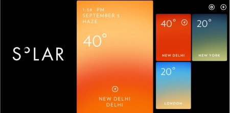 Solar- Weather App for iPhone