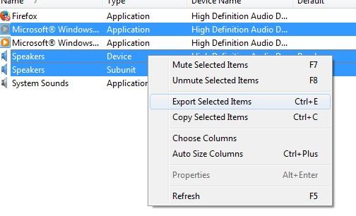 SoundVolumeView- right-click menu