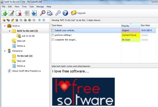 Swift To-Do List Lite- main interface
