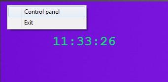 TTclock- clock mode