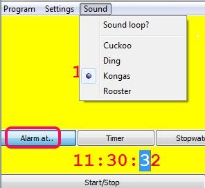 TTclock- set alarm