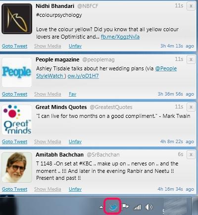 Twittalert- twitter desktop app