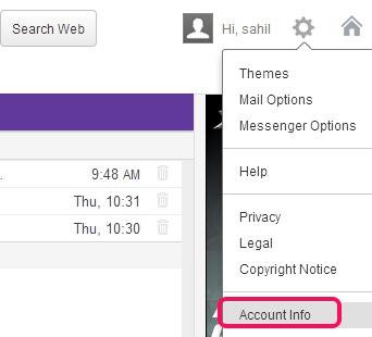Two Step Authentication in Yahoo! Mail- access Account Info