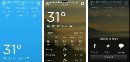 - Weather App for iPhone